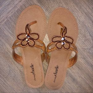 🌻 Charming Charlie Beautiful Beaded Sandals
